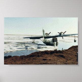 Teshekpuk Lake, Sea Plane, and Camp Poster