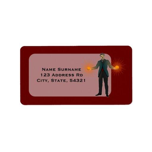 Tesla, address labels address label