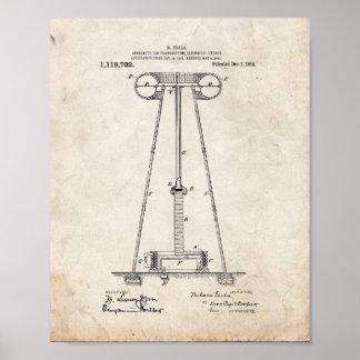 Tesla Apparatus For Transmitting Electrical Energy Poster