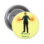 Tesla, button 2 inch round button