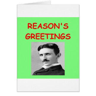 tesla christmas greeting card