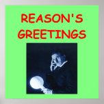 tesla christmas poster