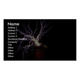 Tesla coil arcing business card templates