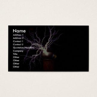Tesla coil arcing business card