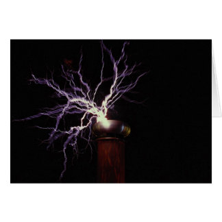 Tesla coil arcing greeting cards