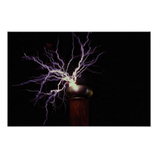 Tesla coil arcing poster