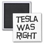 Tesla correcto iman