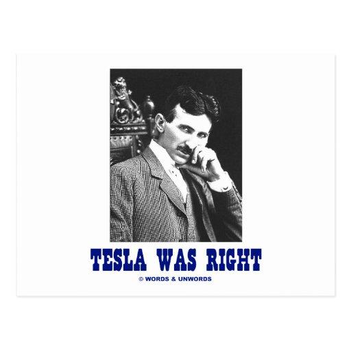 Tesla correcto (Nikola Tesla) Postal
