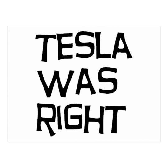 Tesla correcto tarjetas postales