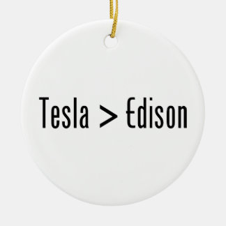 Tesla > Edison Adorno Navideño Redondo De Cerámica
