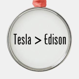 Tesla > Edison Adorno Navideño Redondo De Metal
