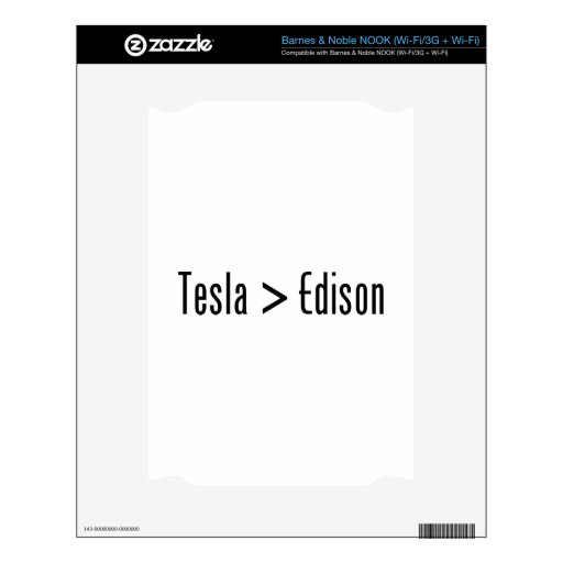 Tesla > Edison Decals For NOOK