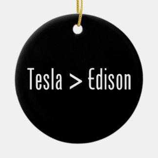 Tesla > Edison Adorno Redondo De Cerámica