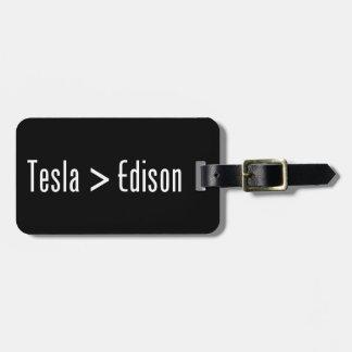 Tesla > Edison Etiquetas Bolsa