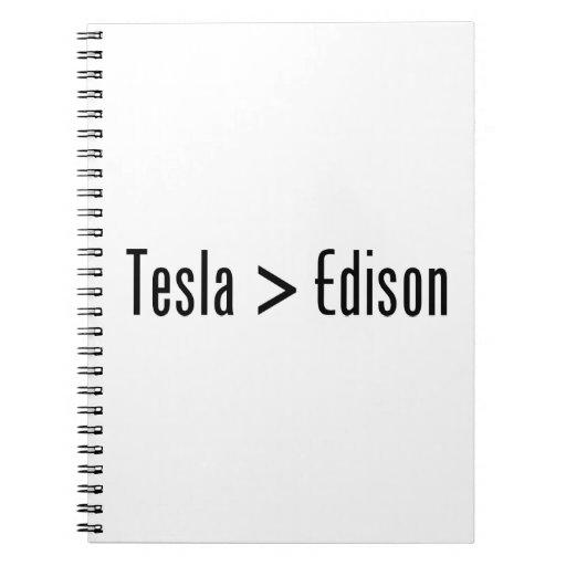 Tesla > Edison Libro De Apuntes Con Espiral