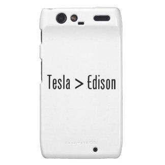 Tesla > Edison Motorola Droid RAZR Funda