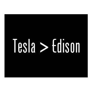 Tesla > Edison Postales