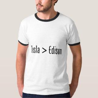 Tesla > Edison Remera
