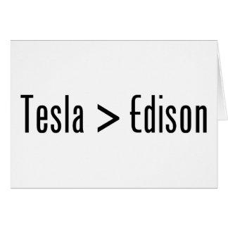 Tesla > Edison Tarjeta De Felicitación