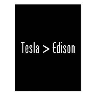 Tesla > Edison Tarjeta Postal