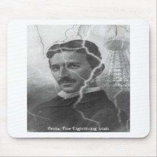 Tesla, el hombre del relámpago alfombrilla de raton