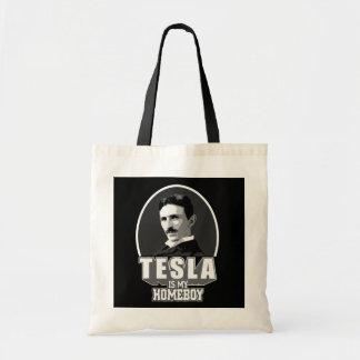 Tesla es mi Homeboy Bolsa Tela Barata