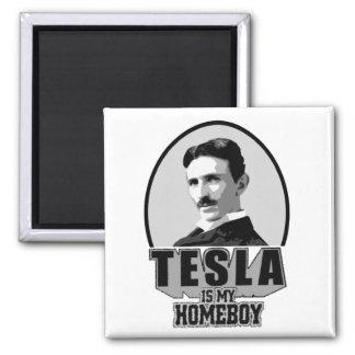 Tesla es mi Homeboy Imán Cuadrado