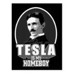 Tesla es mi Homeboy Tarjetas Postales