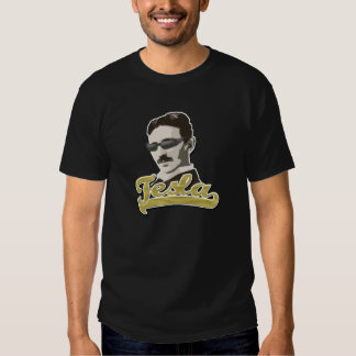Tesla fresco con la camiseta de las sombras playera