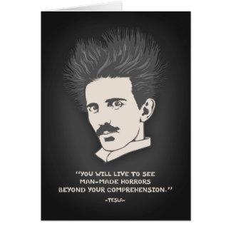 Tesla - horror tarjeta de felicitación