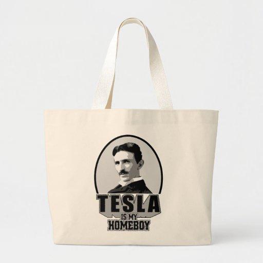 Tesla Is My Homeboy Canvas Bag
