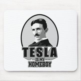 Tesla Is My Homeboy Mousepads