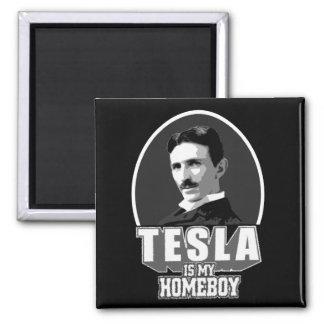 Tesla Is My Homeboy Refrigerator Magnet