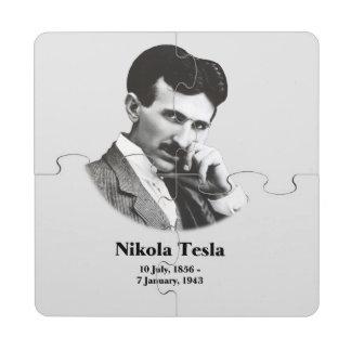 Tesla joven posavasos de puzzle