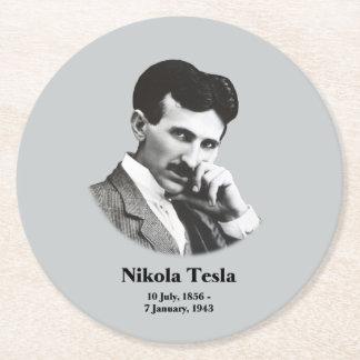Tesla joven posavasos desechable redondo