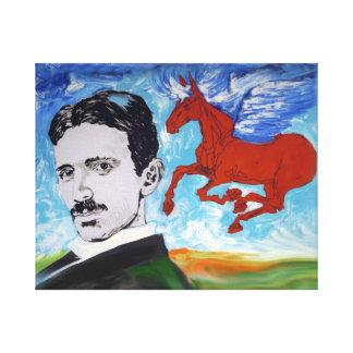 Tesla Knows Canvas Print