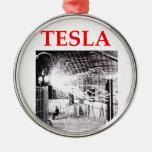 tesla metal ornament