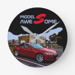 TESLA Model S - AWESOME Round Clock