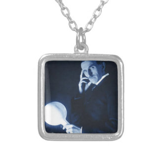tesla square pendant necklace