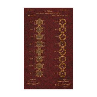 Tesla Patent 00382280 Sht 1 Canvas Prints