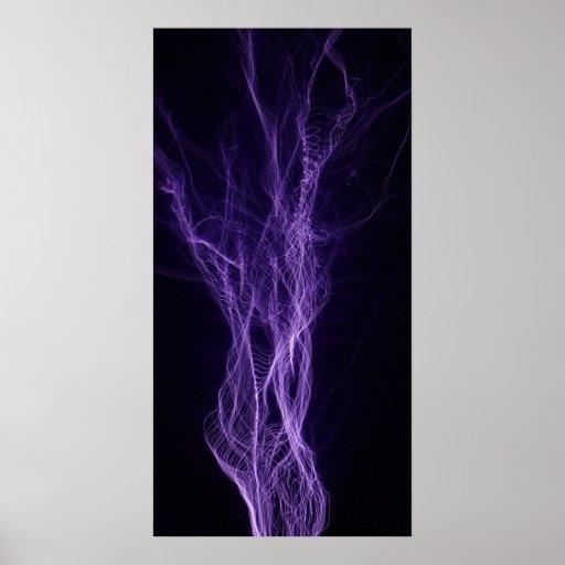 Tesla Powered Lightning Poster