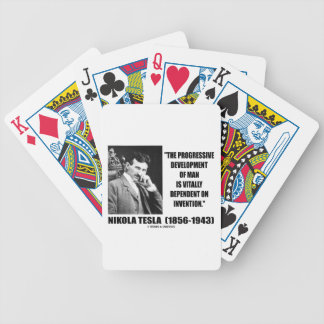 Tesla Progressive Development Man On Invention Bicycle Playing Cards