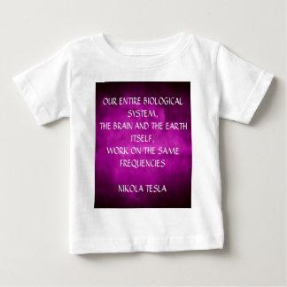 Tesla Quote On Purple Baby T-Shirt