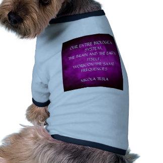 Tesla Quote On Purple Pet T Shirt