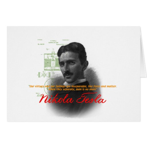 Tesla Tarjeta De Felicitación