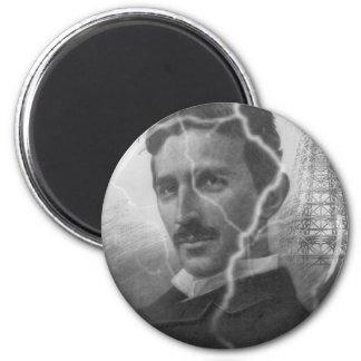 Tesla, The Lightning Man 2 Inch Round Magnet