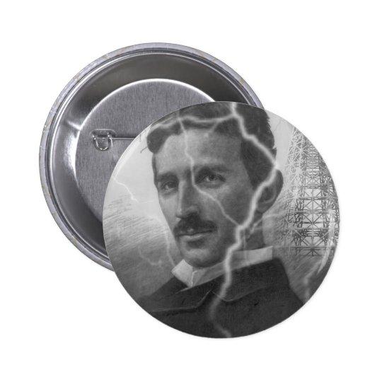 Tesla, The Lightning Man Pinback Button