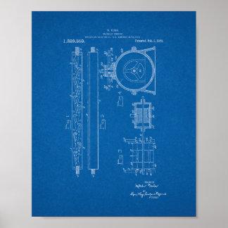 Tesla Valvular Conduit Patent - Blueprint Print