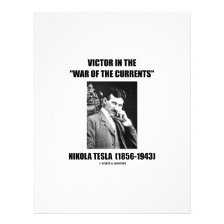 Tesla Victor In the War Of The Currents Physics Letterhead