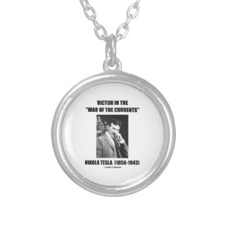Tesla Victor In The War Of The Currents Physics Round Pendant Necklace
